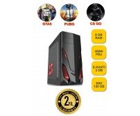 Gaming İntel G4560 DDR4 2400 Mhz 8 Gb Ram 2 Gb Ekran Kartı 400 Watt Psu